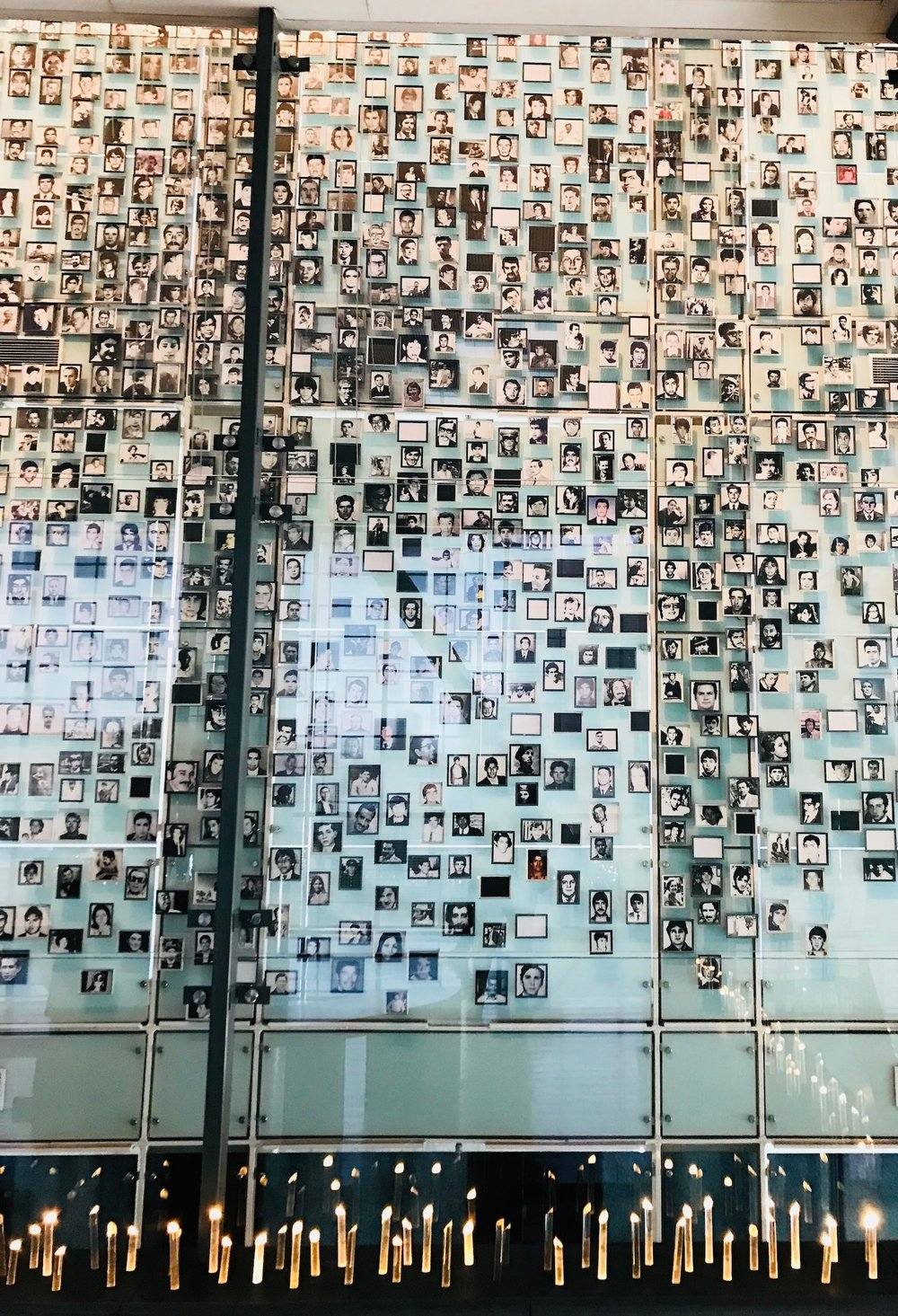 Photos of the disappeared and murdered Chileans under Pinochet's dictatorship