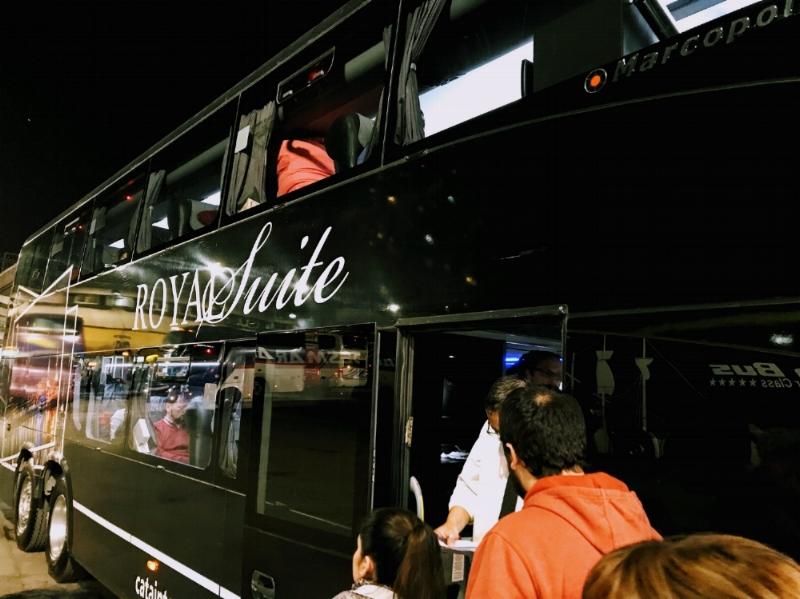 Cata International Royal Suite bus line to Mendoza