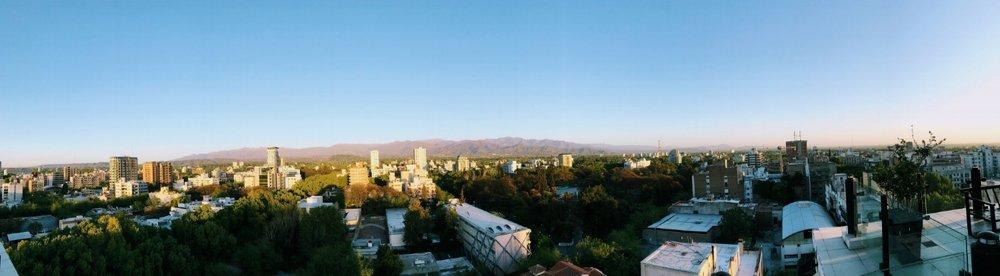 View of Mendoza from El Faro Bistro