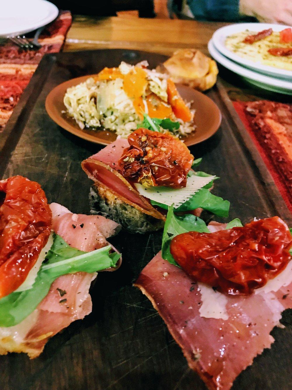 Appetizers at Casa de Campo