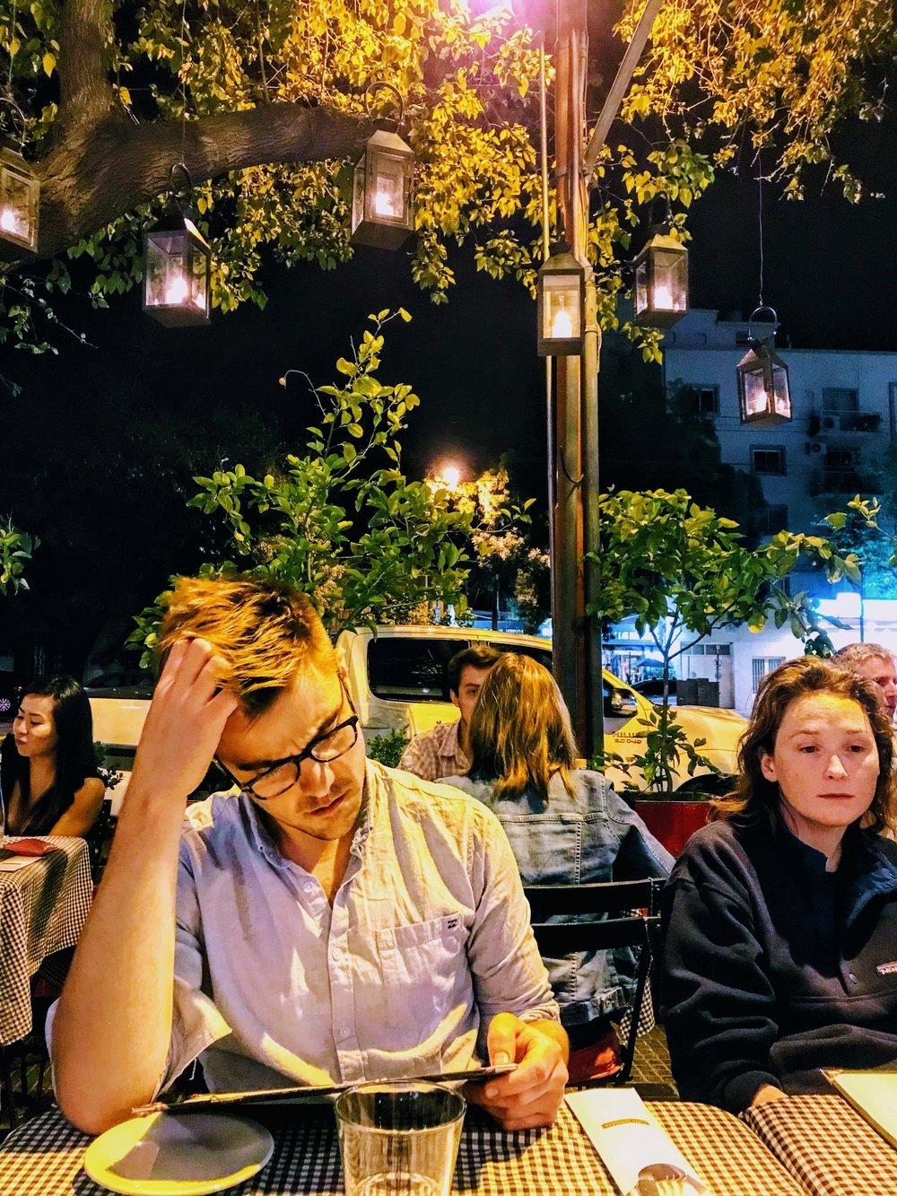 Dinner under the lights at Maria Antonieta