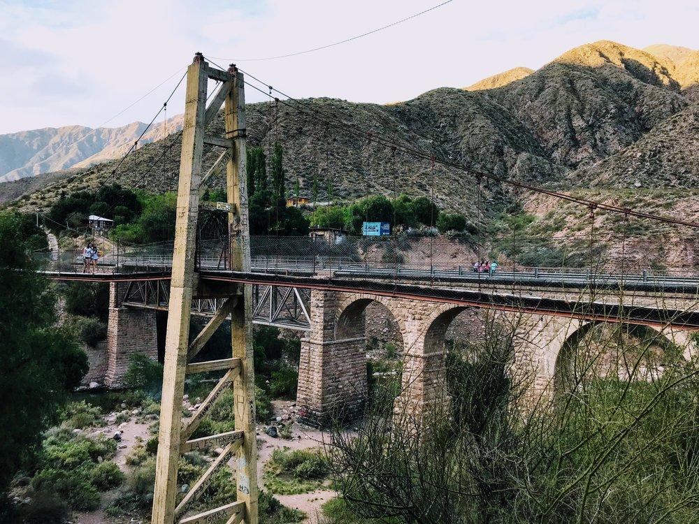 Hanging Bridge at Cacheuta