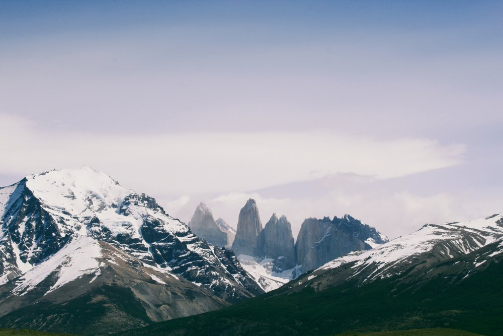 The three peaks in Torres del Paine National Park