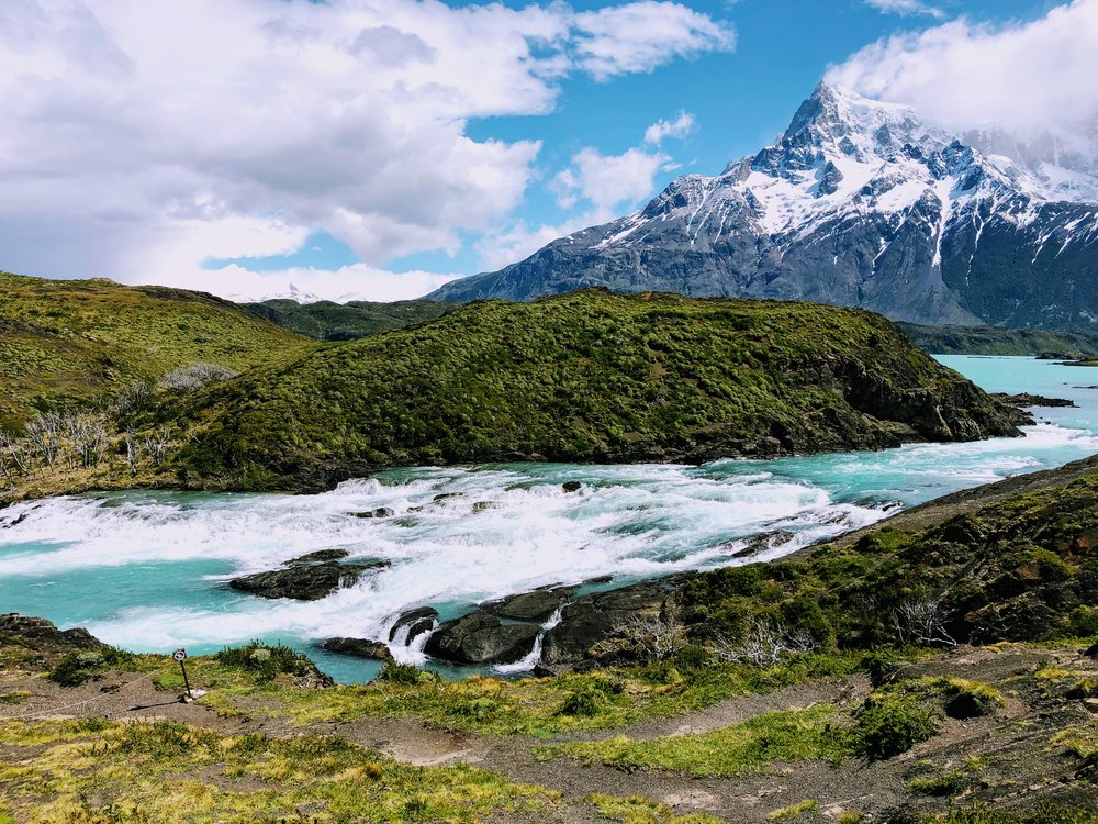 Salto Grande waterfall in Torres del Paine National Park