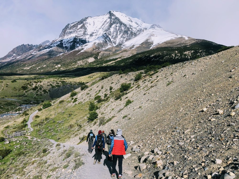 Trail in Torres del Paine National Park