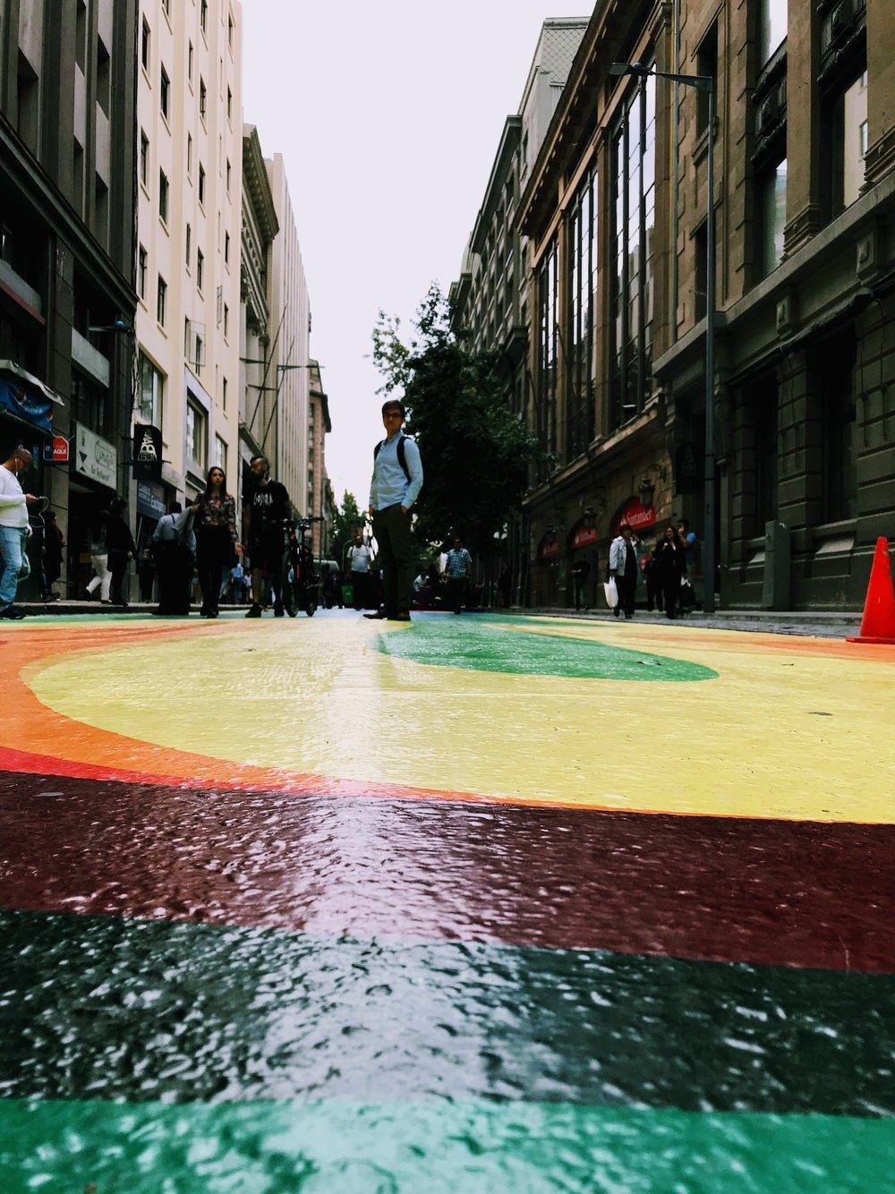 Bandera street in Santiago Chile