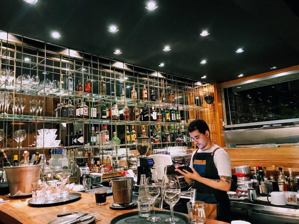 The wonderful bartender at Bazaar Restaurant in Rio de Janeiro