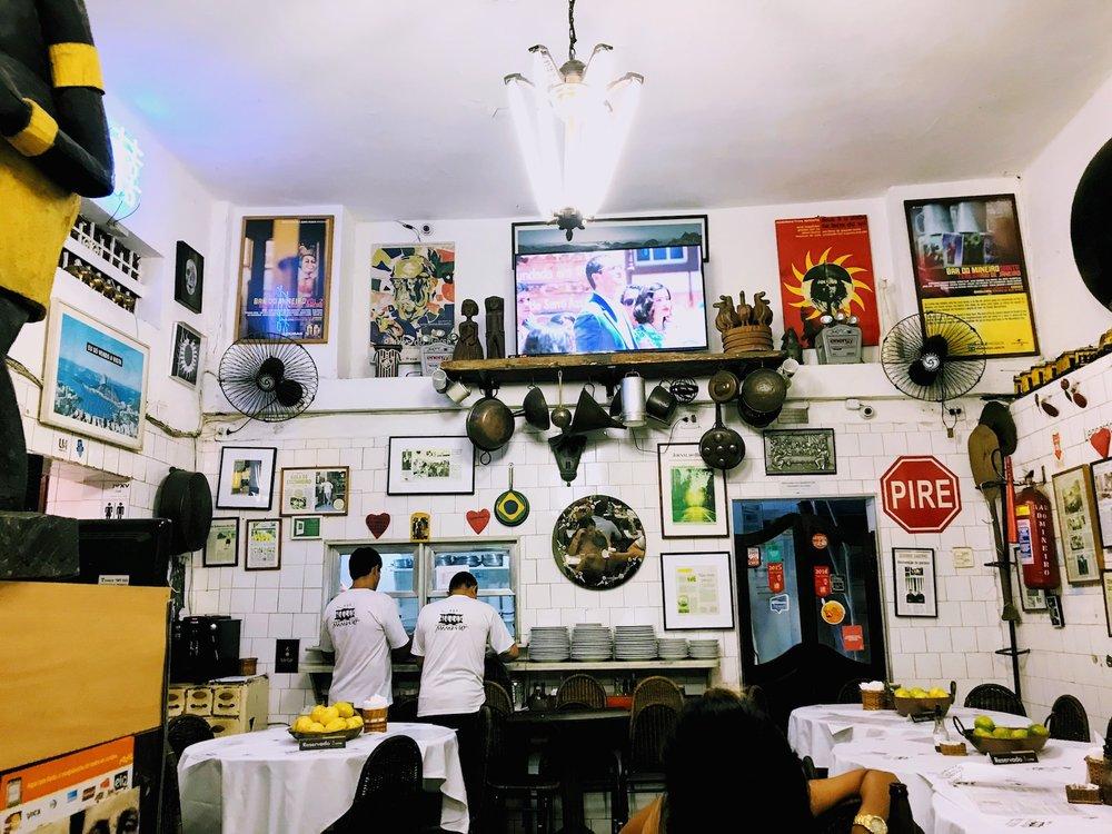 Bar do Mineiro in Santa Teresa neighborhood of Rio de Janeiro
