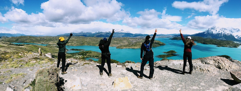 Group hike in Torres del Paine Patagonia