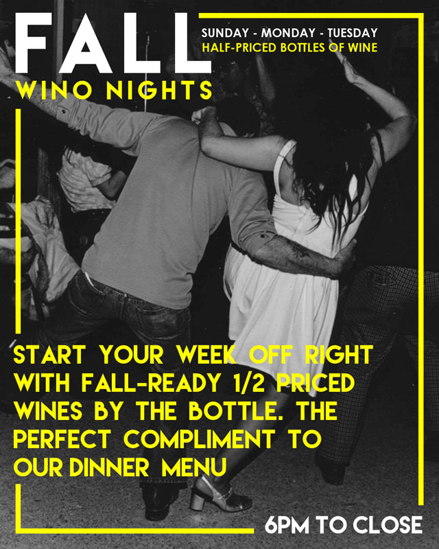 Fall Wino Nights at The Must