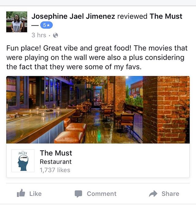 Another five star review! Geeze guys, thank you!!!! 😘😘😘🤗😳 #themust #bar #dtla #eatlocal #dtlaartsdistrict #foodporn