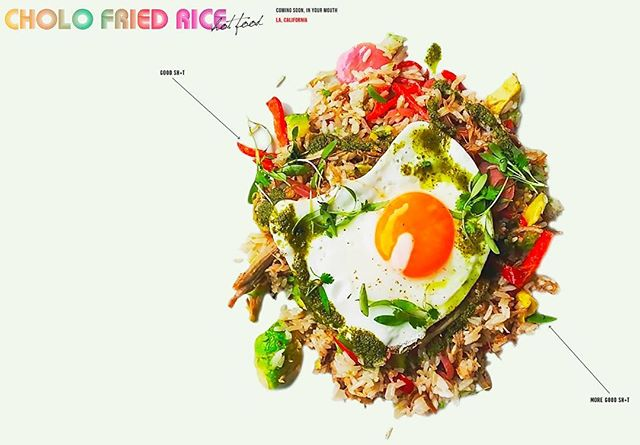 YOUR FAVORITE DISH IS ABOUT TO BE YOUR NEW FAVORITE RESTAURANT! Cholo Fried Rice - coming soon from The Must Co-Owner Coly Den Haan. Link in profile. Sign up for the newsletter to know when we open! @cholofriedrice #cholofriedrice #theoriginalcholofriedrice #cfr #hotfood #eatlocal #foodporn #laeats #foodblogger #styleblogger