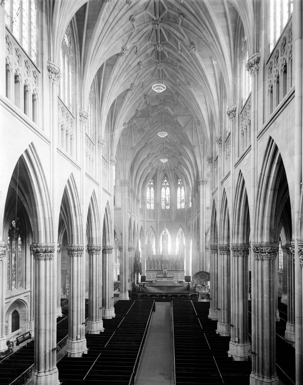 Interior of the Cathedral, circa 1902, Library of Congress