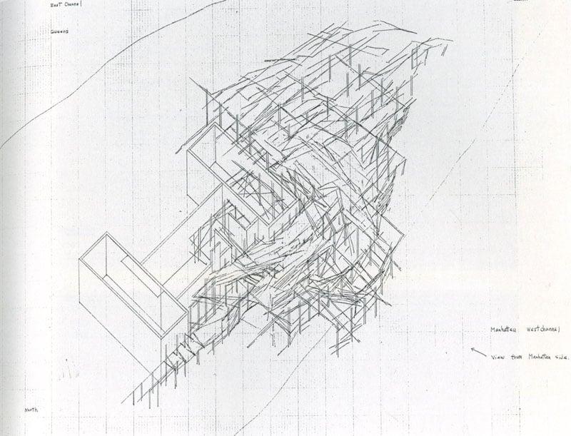 Architectural rendering by Tadashi Kawamata