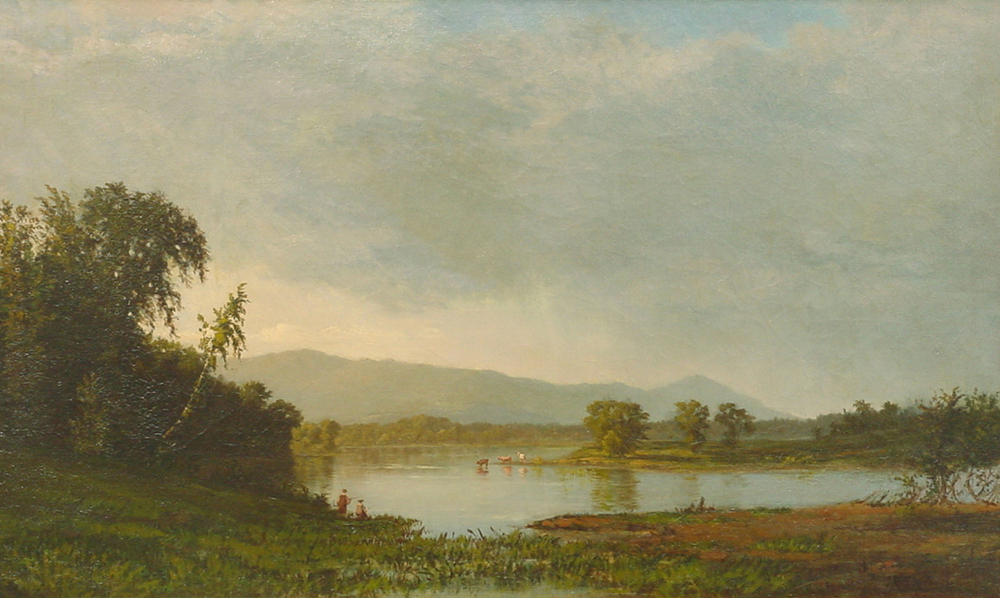 View of the Catskills from the Hudson , James Renwick Brevoort, Pelham Art Center