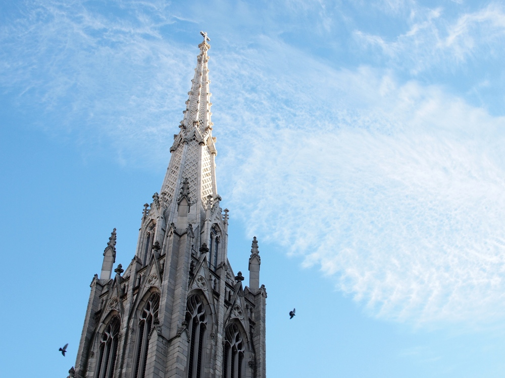 The spire of Grace Church, image courtesy Jack Amick