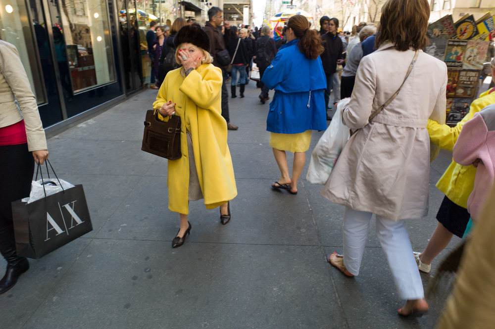 Yellow Coat, Fifth Avenue, New York 2012