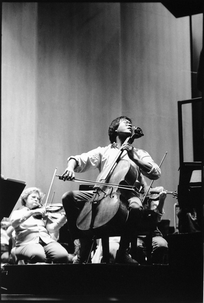 Yo-Yo Ma in rehearsal with the Louisville Orchestra, 1991
