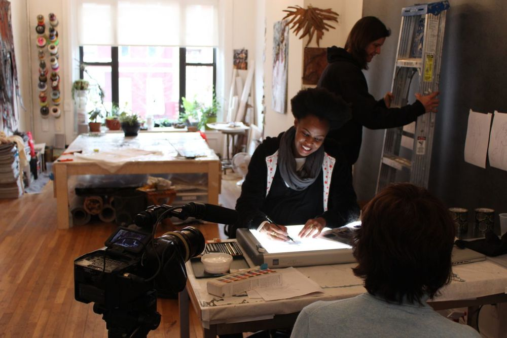 Behind the scenes of our upcoming film on the artist Wangechi Mutu