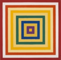 Scramble: Ascending Spectrum/Ascending Yellow Values  by Frank Stella