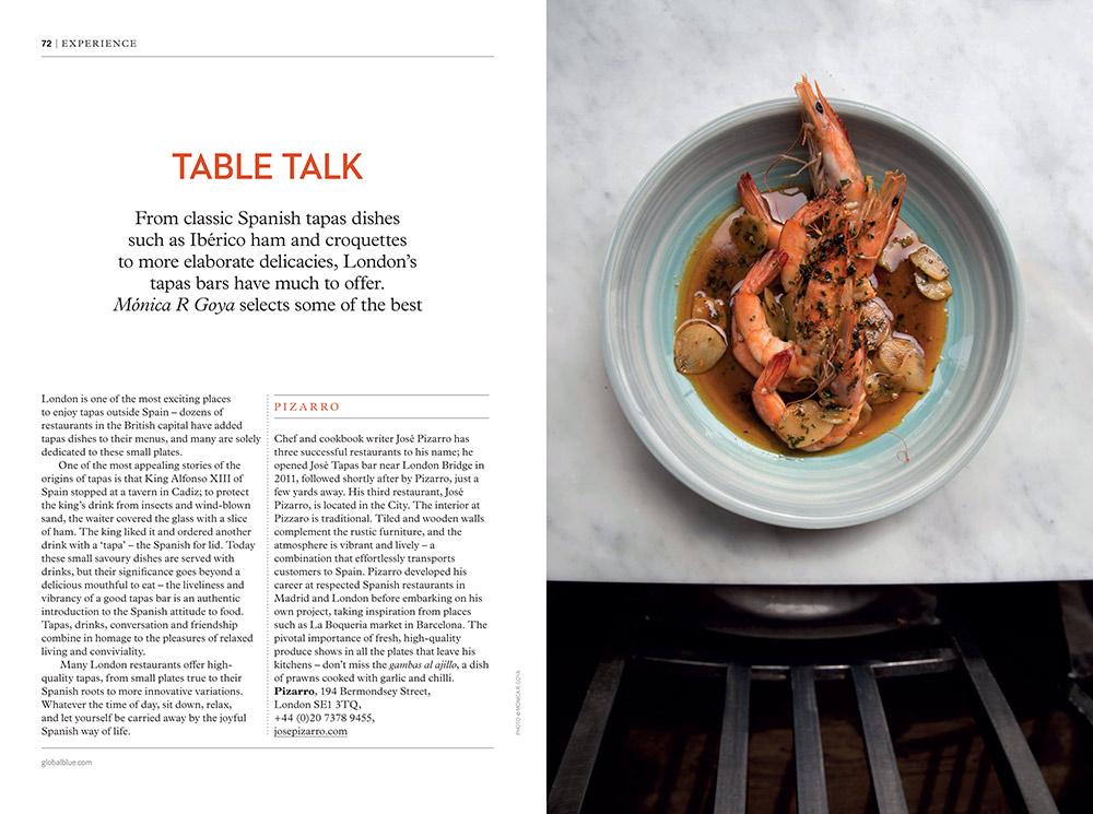 Best tapas in London x SHOP magazine - Monica R. Goya