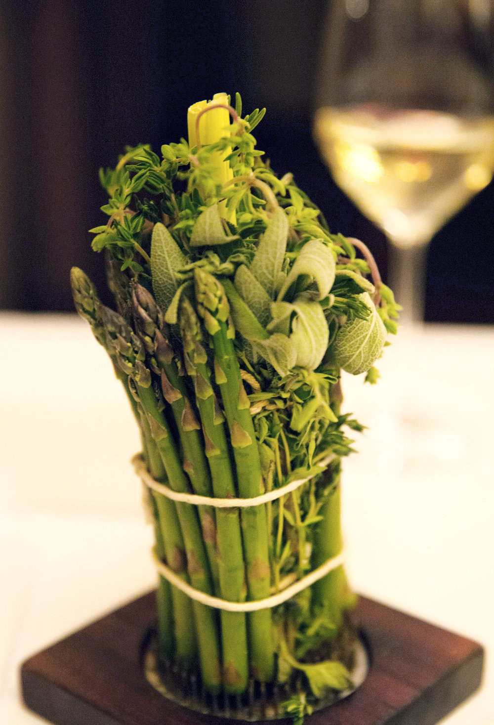 Asparagus at Blue Hill restaurant, NYC - Monica R. Goya