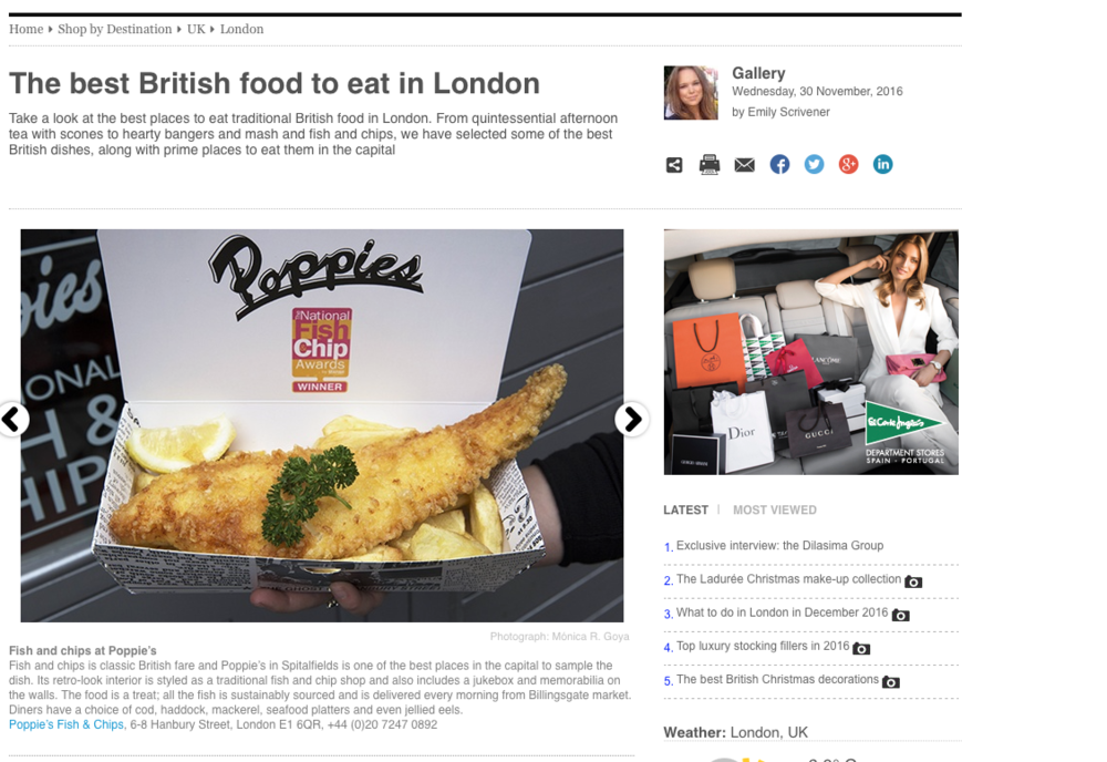 Fish and chips SHOP magazine - Monica R Goya