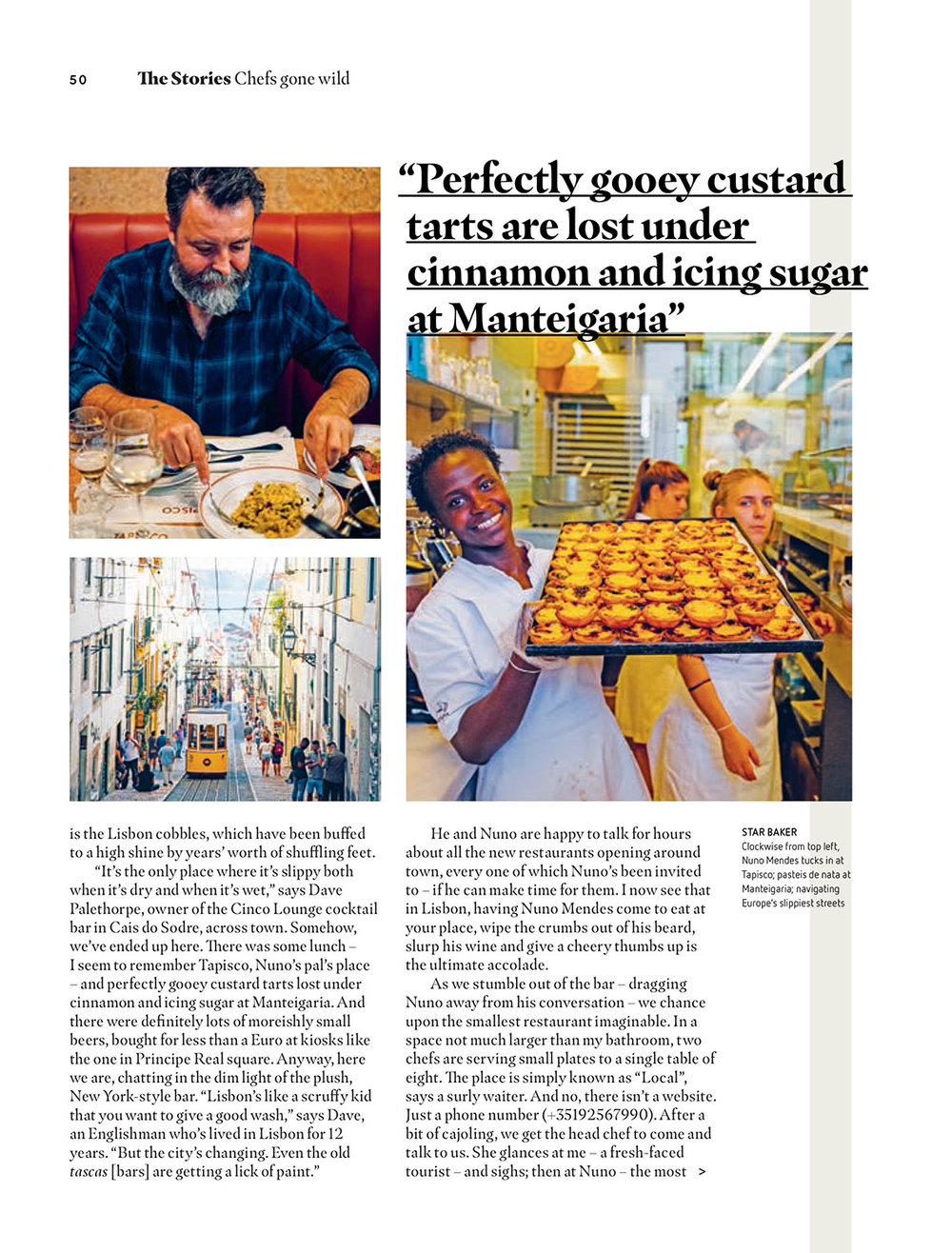 'Chefs Gone Wild' - easyJet Traveller November 2017 - photography