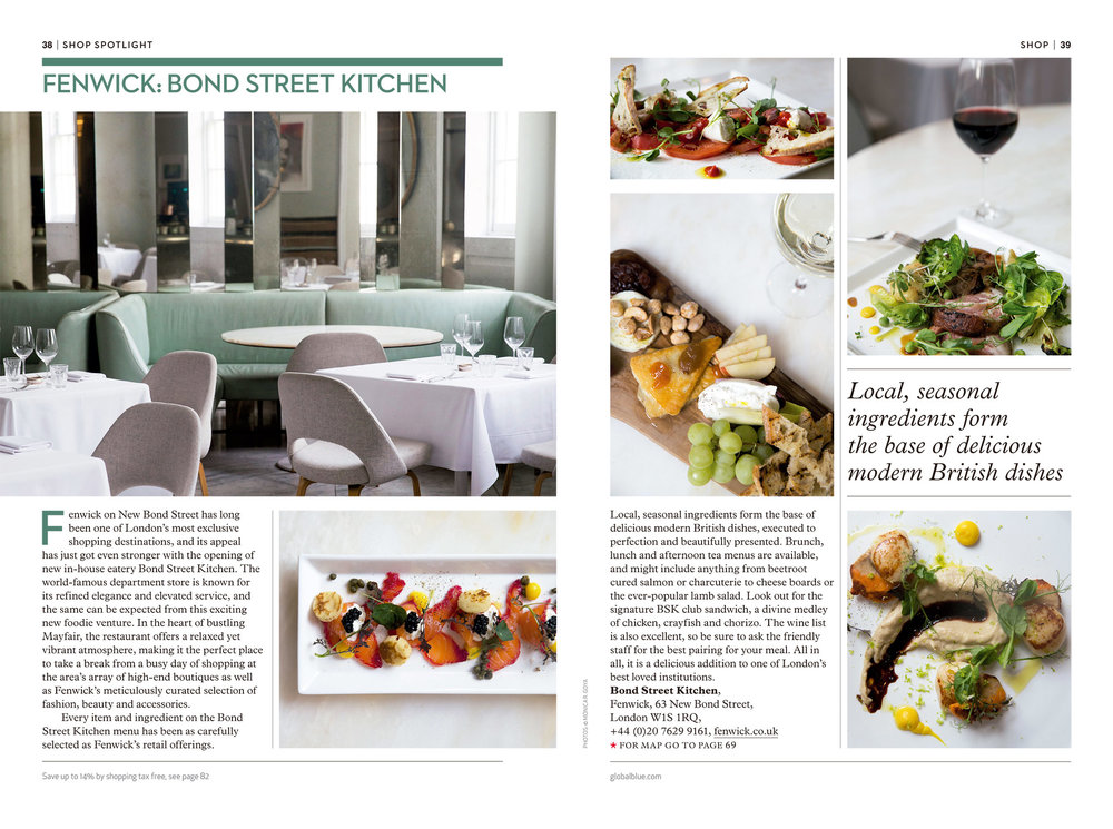 Fenwick Bond Street Kitchen - SHOP magazine London Lux AW17 - Photography