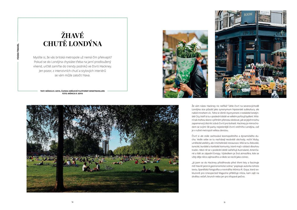 Hackney City Guide - Unexpected magazine SS17 - Photography & Words (translated to Czech from English)