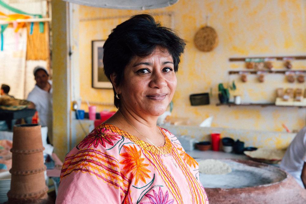 Gabriela Fernández Orantes at Itanoní Antojería y Tortillería - Oaxaca, Mexico