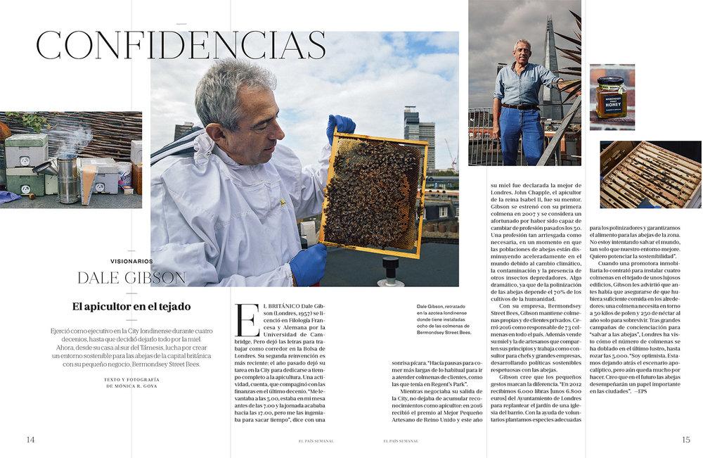 """""""El Apicultor en el Tejado"""" - El País Semanal 31/12/2017 - Writing & Photography"""