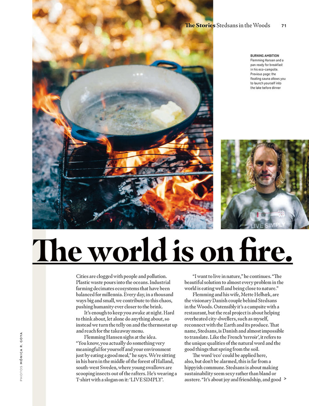 """The World Is On Fire"" - easyJet Traveller October 2018 - photography"