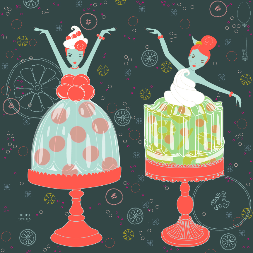Bright background  Jello Girls Fabric .jpg