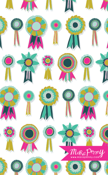 surtex_neon hand drawn prize ribbon pattern.jpg