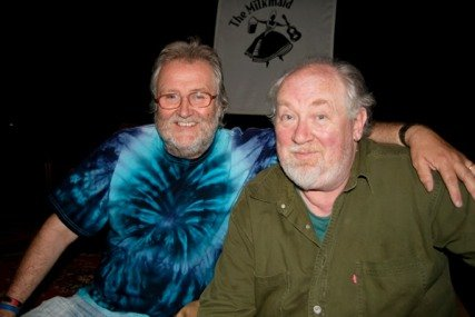 Terry Walden with John Renbourn our Patron.