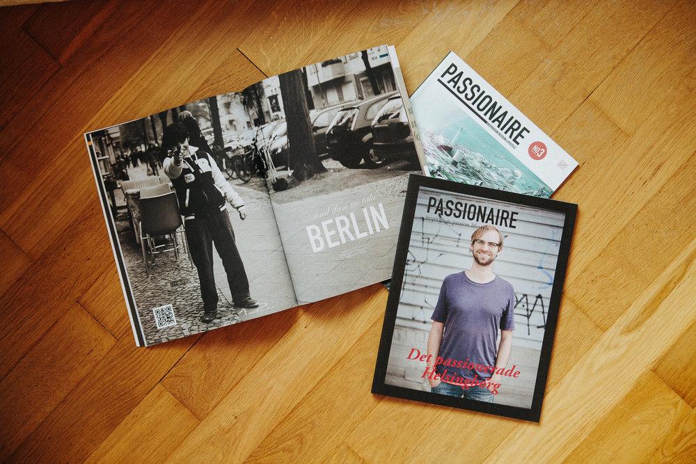 PASSIONAIRE - I magasinet Passionaire publicerade vi artiklar och reportage om personer med passion i syfte att inspirera. Kreativa människor som brinner för sina intressen och yrken.