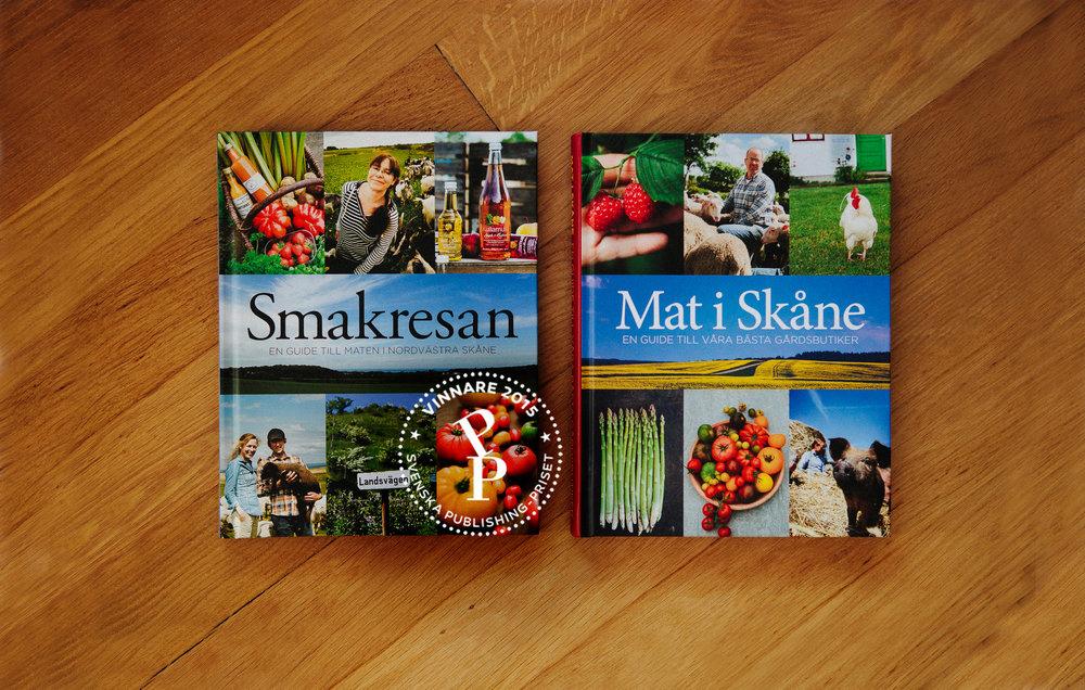 SMAKRESAN & MAT I SKÅNE - Liljedahl Publishing publicerade reseguiderna Smakresan och Mat i Skåne som jag fotograferade över två säsonger runt om i Skåne för att lyfta fram det närodlade och de gårdsbutiker som producerar sin egen mat. Smakresan vann Svenska Publishing priset 2015.