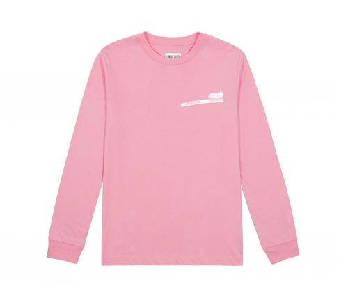 c41132f6842 Long Sleeve Pink Toothbrush Tee — LONDON BREED
