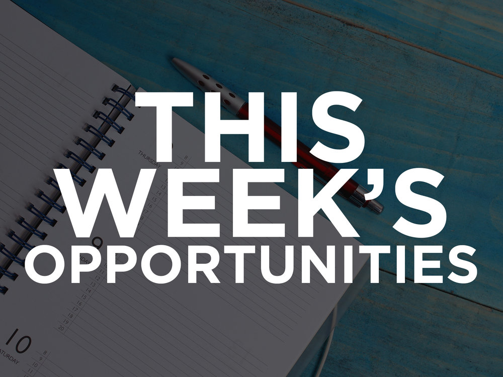 this weeks opportunities