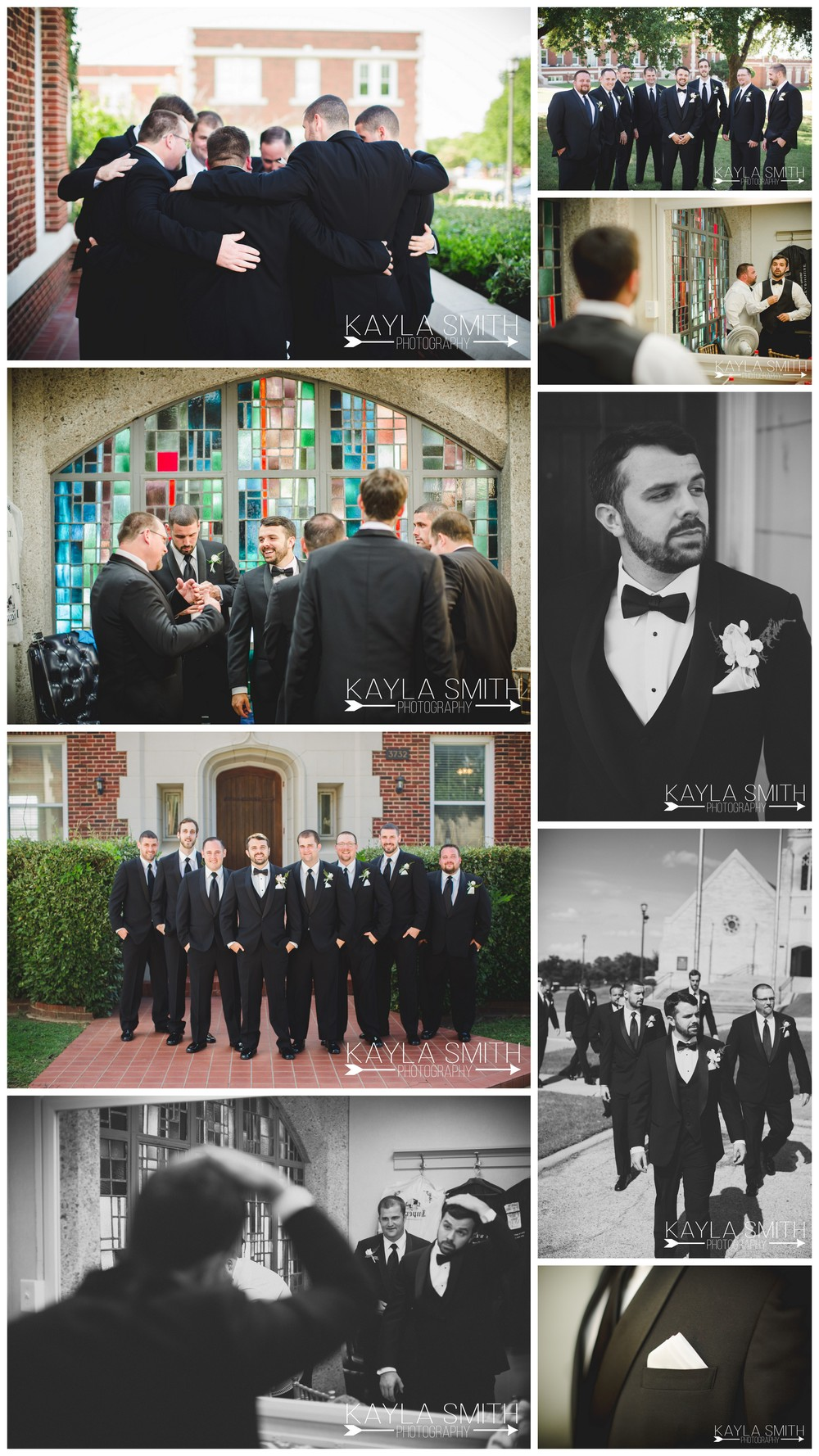 The guys decided they wanted to pray together before the ceremony.