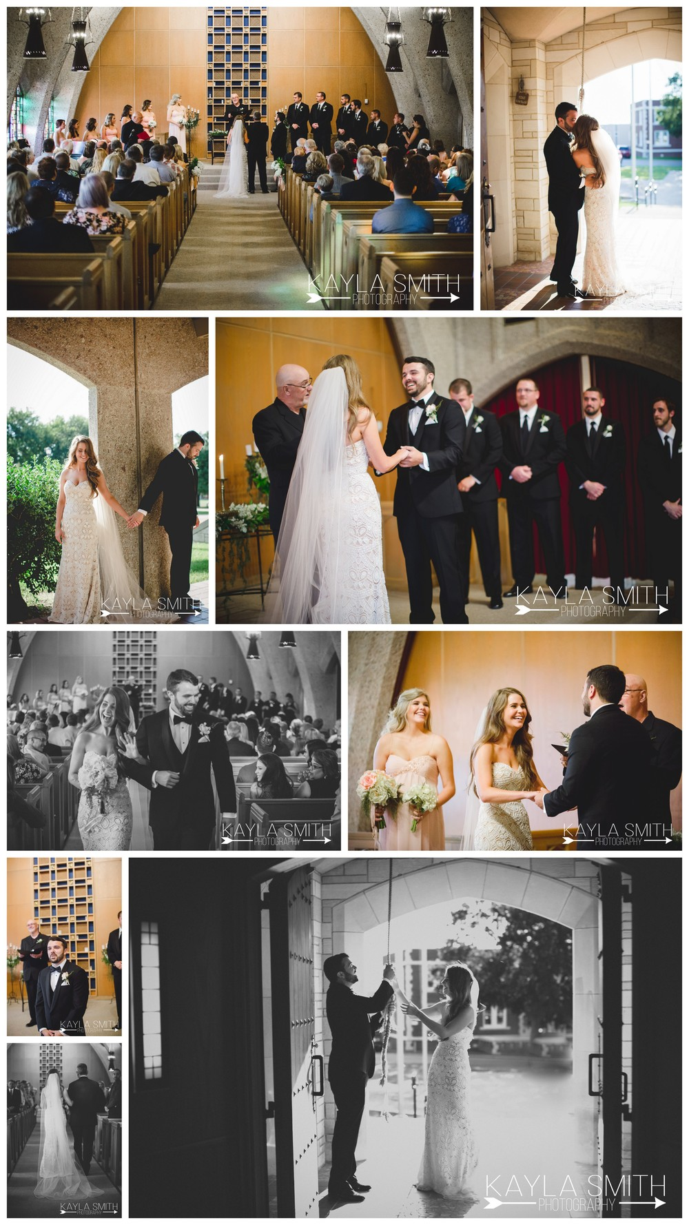 """Morgan and Andrew opted to do a """"first look without the look"""" before the ceremony and after the ceremony they ran out to ringthe bell together, a Belltower Chapel and Garden tradition."""