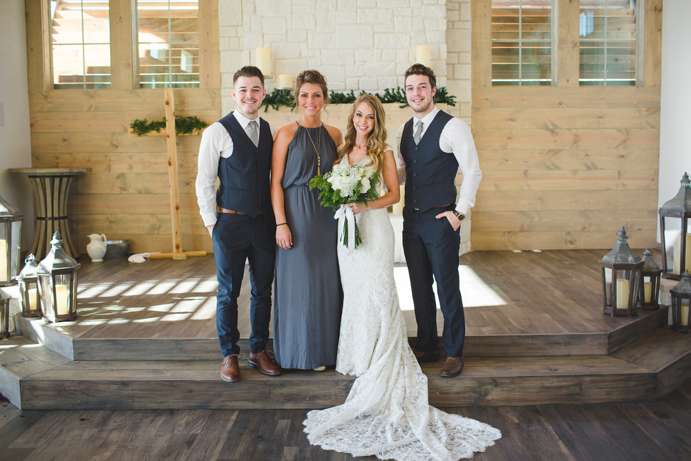 Bride with siblings, for example.