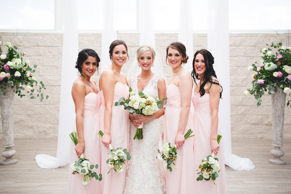 I have a thing for symmetry so I like it when there is an even number of bridesmaids.