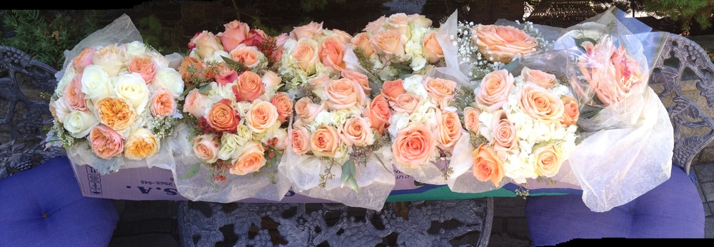 BridalParty Bouquets, packed and ready for delivery.