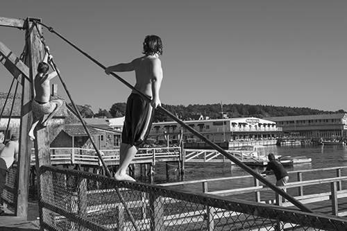 Bridge Jumping  ©Wendy Drexler   Boothbay Harbor
