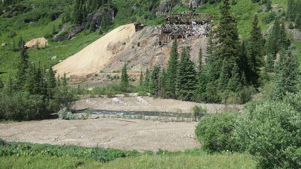 Sneffels Creek Bank Restabilization Project at Atlas Mill 7/2016