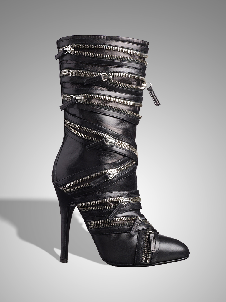 003_1 BALMAIN black zipper boot _BL.jpg