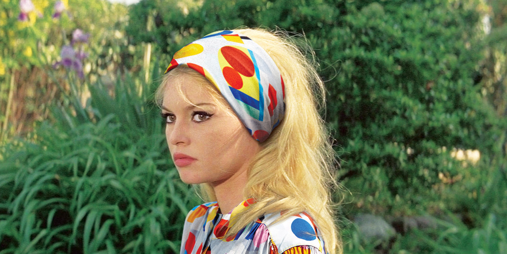 Brigitte Bardot in  Contempt , 1963. Scarf and top by Chanel, 2014.