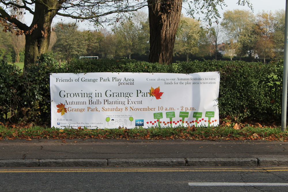 Our banner along the Coulsdon Road